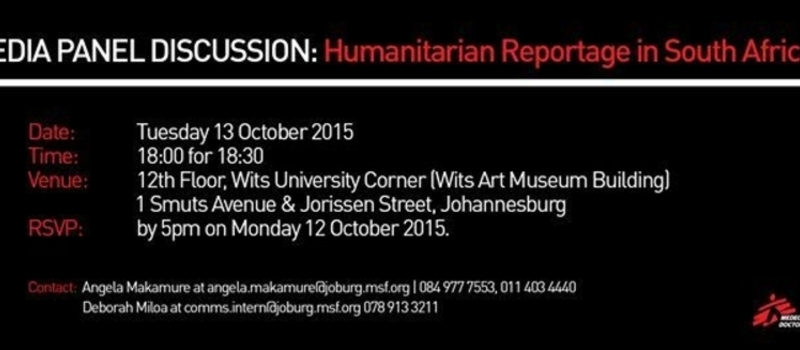 Media Panel Discussion: Humanitarian Reportage in South Africa
