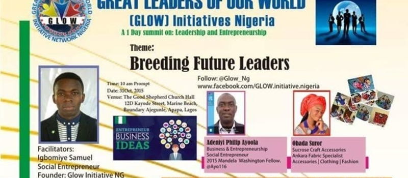 GLOW Initiatives NG, 1 Day Summit on Leadership and Entrepreneurship