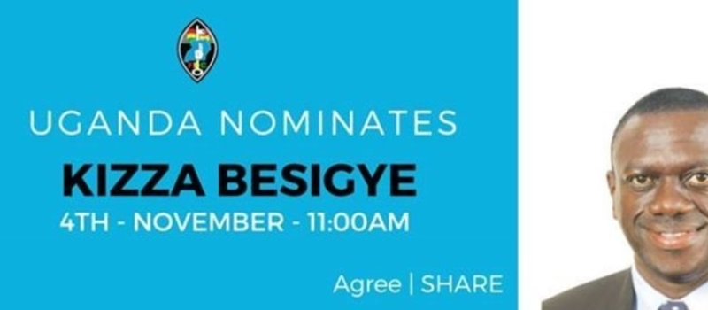 Nomination of RTD. Col Dr. Kizza Besigye for President of Uganda