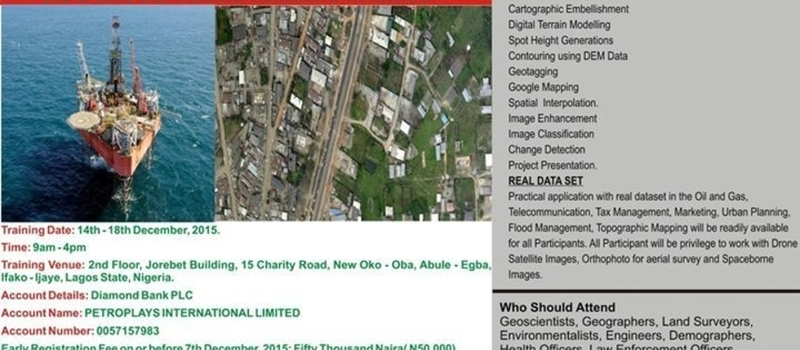 DECEMBER Principles & Applications of GIS and Remote Sensing in Lagos