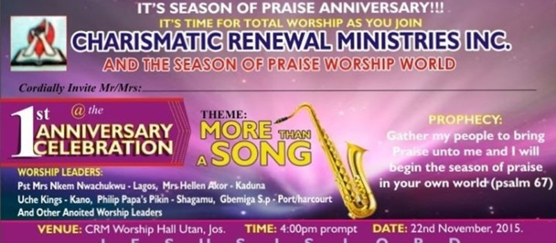 Season Of Praise Worship World ANNIVERSARY ,ITS MORE THAN SINGING