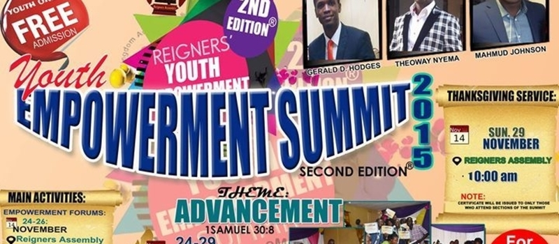 REIGNERS' YOUTH EMPOWERMENT SUMMIT-2015