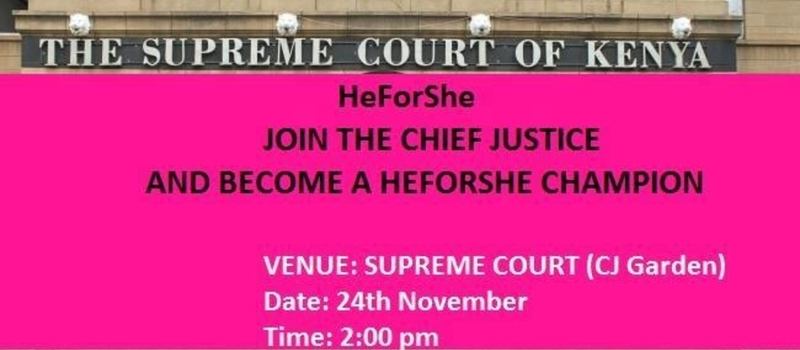 HeForShe Launch in the Judiciary