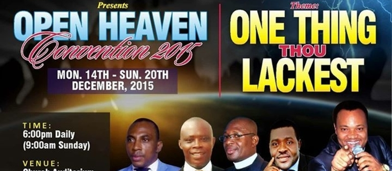 CBPM - OPEN HEAVEN CONVENTION 2015