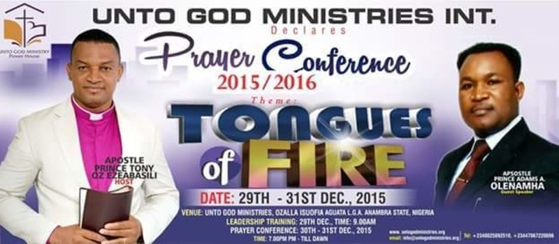 "Prayer Conference : Tagged : "" TONGUES OF FIRE ""."