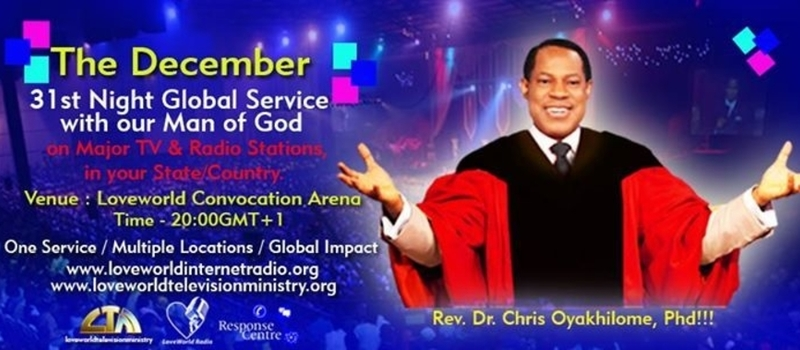 December 31st Night Service with Pastor Chris