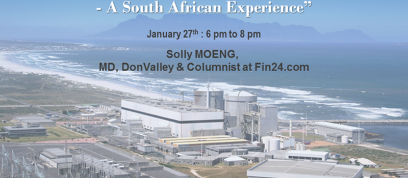 CONFÉRENCE | Nuclear Communications in South Africa, with  Solly MOENG,