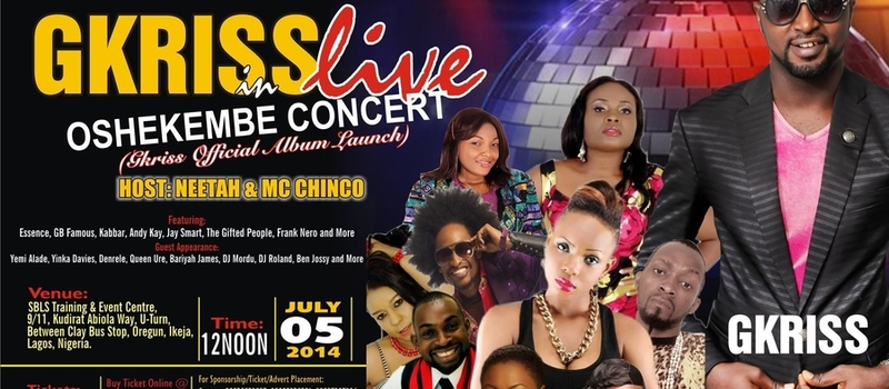 GKRISS Live in OSHEKEMBE CONCERT (OFFICIAL ALBUM LAUNCH)