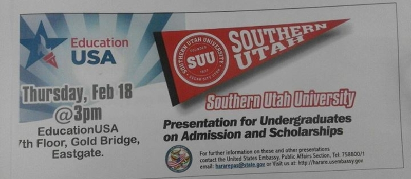Southern Utah University Presentation on Admission and Scholarships