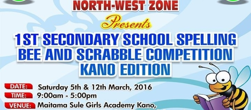 Secondary School Spelling Bee and Scrabble Competition.