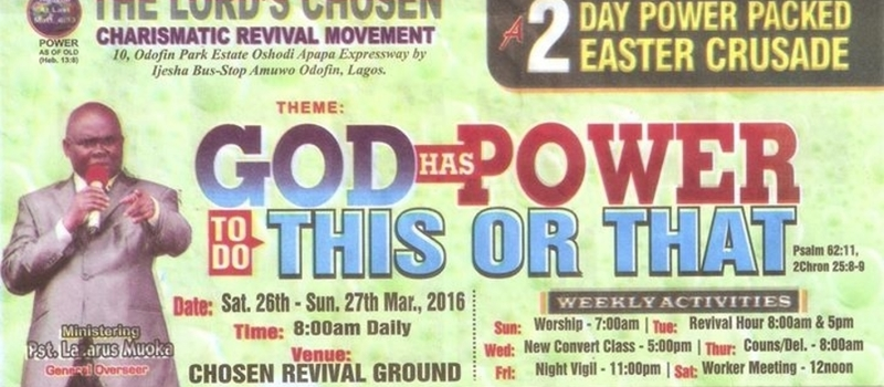 Great Easter Christian Program - GOD HAS POWER TO DO THIS OR THAT