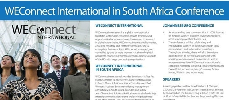 WEConnect International in South Africa Conference