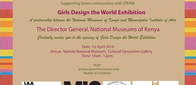 Invitation to Girls Design the World Exhibition