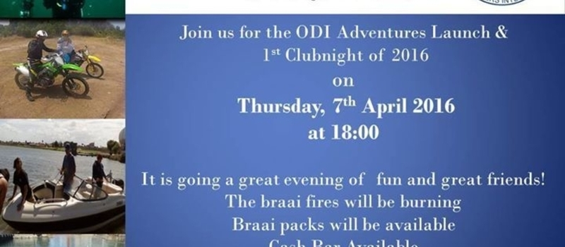 ODI Adventures Launch & Clubnight
