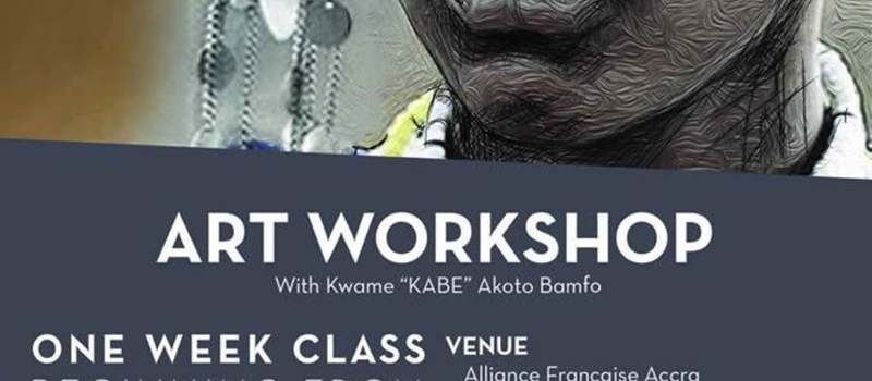 Art Workshop with Kwame Akoto Bamfo