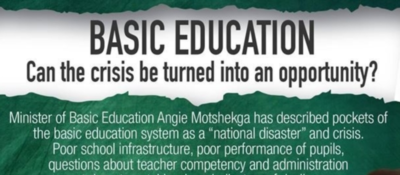 BASIC EDUCATION Can the crisis be turned into an opportunity?