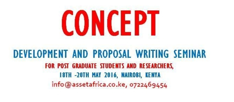 Concept Development and Proposal Writing Seminar