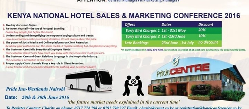 Kenya National Hotel Sales and Marketing Conference 2016