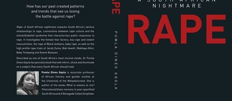 "Public dialogue to launch the book ""Rape: A South African Nightmare"""