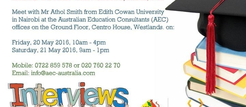 Edith Cowan University interviews in Nairobi at the AEC Offices