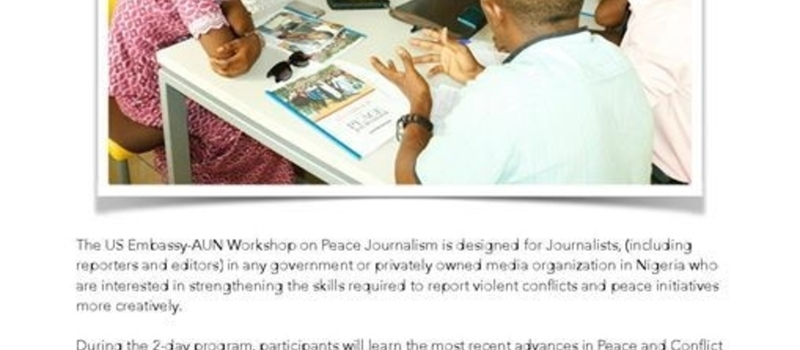 US Embassy-AUN Peace Journalism Workshop