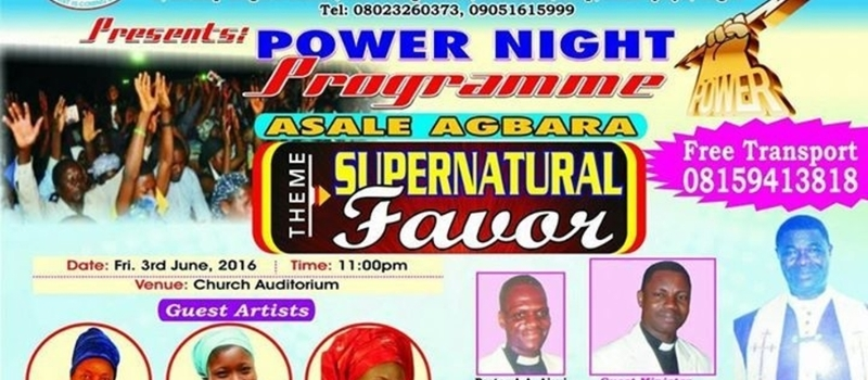 POWER NIGHT MONTHLY VIGIL