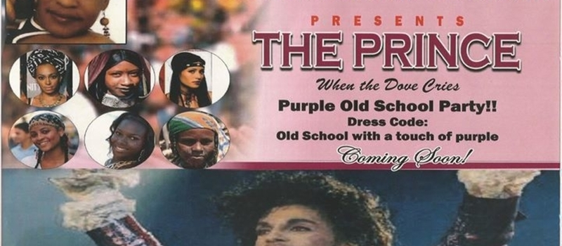 Purple old school party in honor of American singer, Prince