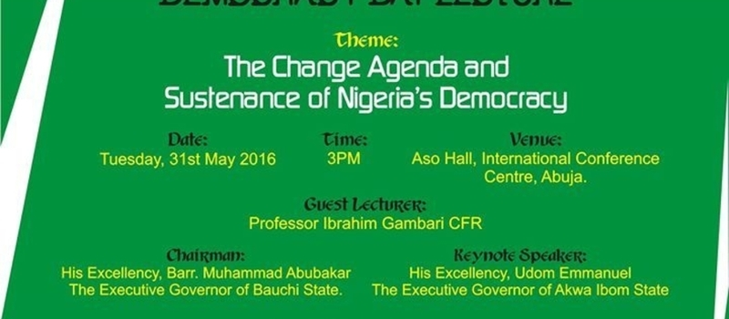 2016 Nigeria Democracy Day Lecture