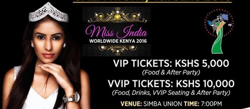 Miss India Worldwide Kenya 2016- 4th June, Gala Night & After Party